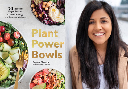 Author Sapana Chandra cooks at the West Seattle Farmer's Market