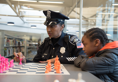 Detective Cookie's Chess Club at the Rainier Beach Branch
