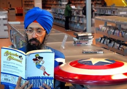 Comics for Good with Sikh Captain America