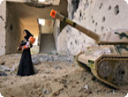 Artist Brian McCarty shows images from 'War-Toys: Israel, West Bank, Gaza Strip'