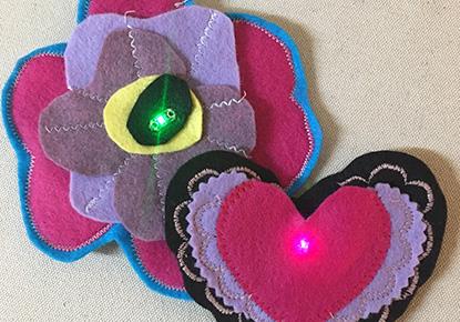 CANCELED - Let Your Love Light Shine!: Make an e-Textile Valentine Brooch