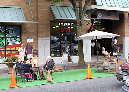PARKing Day Story Time at Kaffeeklatsch Bakery