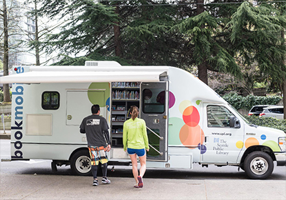 Bookmobile at Spring Into Summer Community Carnival