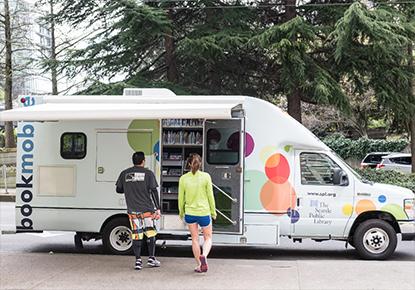 Bookmobile at Rainier Beach Back 2 School Bash